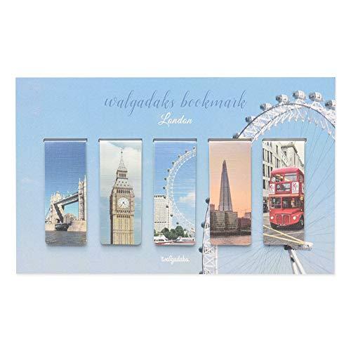 Monolike Magnetic Bookmarks London, Set of 5