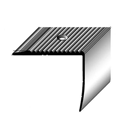 Nez de marche / Cornière pour escaliers (42 mm x 50 mm), aluminium anodisé, foré, couleur: argent