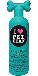 Yummy Orange scented tearless shampoo - perfect for puppies This hypoallergenic tearless shampoo is extra gentle and free of harsh chemicals Shea butter and safflower oils nourish skin, whilst also helping to restore suppleness and elasticity in coats...