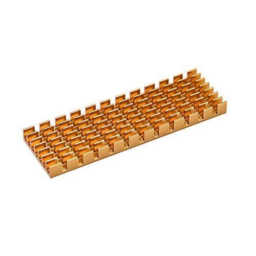 sourcing mapa M.2 disipador de calor de aluminio 70x22x6mm tono dorado ranurado diseño para 2280 SSD