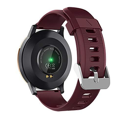 ZJRHM Fitness Tracker Horloge Full-Touch Kleur Scherm Activiteit Tracker IP67 Waterdichte Stappenteller voor Mannen & Vrouwen Compatibele Android Samsung Ios telefoons