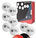12x Tischtennisbälle Ball weiß Se Tischtennisball 40 mm Ping Pong für Training & Wettkampf - Tischtennis Indoor & Outdoor (12x)