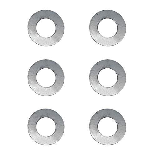 none-branded (6) Abgeschrägte Unterlegscheibe K5651-34352 K5651-34350 für Kubota-Mäher ZD321 ZD326S RCK54 RCK60 RCK72
