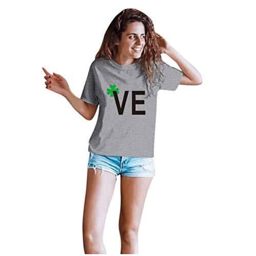 2 Stück Pärchen T-Shirt Set,St. Patrick's Day Shirts,Couples Lovers Valentine's Day Short Shirt,Love Brief Kurzarmshirt Tshirts Tanktops