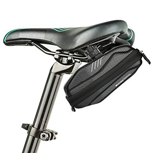 LINGSFIRE Borsa della Sella per Bicicletta 1,5L Guscio rigido in EVA Borsa per Sellino Impermeabile Borsa sottosella con Tasca Borsa da Sella per Ciclismo/MTB/Bici