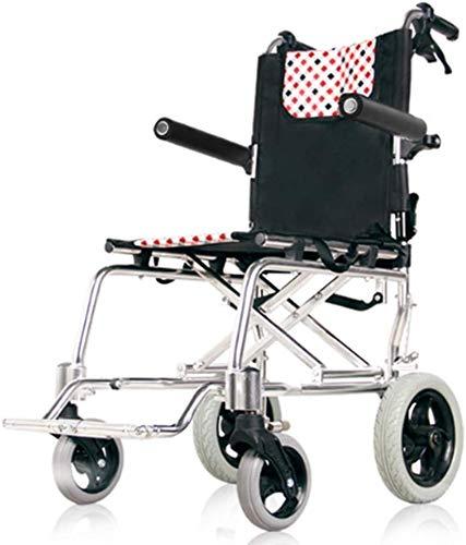 Dljyy Lichtgewicht vouwstoel aluminium, ultra light oudere volwassenen Mobility Walker Rollator Compact rolstoelen voor binnen transport en eenvoudige opslag DFHS