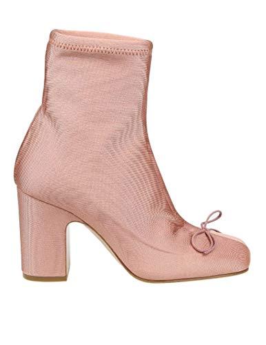 Valentino Luxury Fashion | Red Damen TQ2S0D65TIQ11N Rosa Stoff Stiefeletten | Frühling Sommer 20