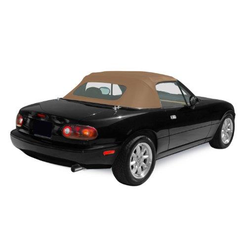 Sierra Auto Tops Mazda 1990-2005 Miata Convertible Top, Stayfast Canvas, Beige