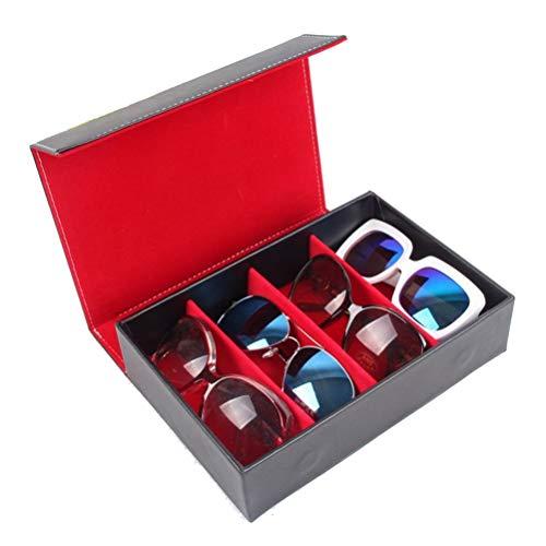 Scatola per Occhiali Espositore, Viaggi portatile 4 slot da sole Storage Box Organizzatore Occhiali di caso di esposizione del basamento della vetrina Eyewear Tray Elegante Scatola occhiali Organizzat
