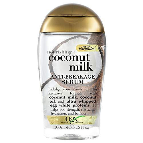 OGX Nourishing Coconut Milk Anti Breakage Serum, 1er Pack (1 x 118 ml)
