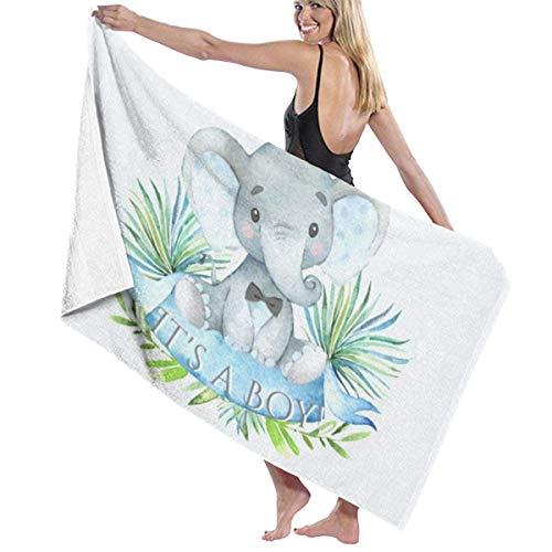 Piscina Toalla de baño Elefante Bebé niño Toalla de Playa Secado rápido Ducha de natación Manta de Mujer Ultra Suave para natación en Piscina Baño Hotel SPA