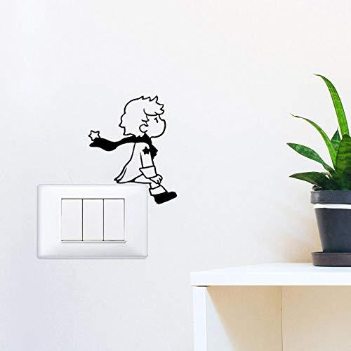 NVVV Lámpara de Pared artística, Pegatina de Vinilo para Pared, Interruptor de luz de Dibujos Animados para niño, Papel Tapiz, decoración de la Pared del hogar, 11x14 cm