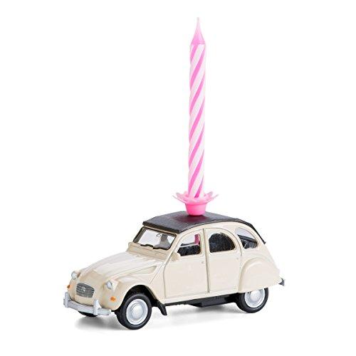 corpus delicti :: Candela su Ruote - Citroën 2CV - Il Regalo di Compleanno per Tutti Gli Appassionati di Due Cavalli (Beige)