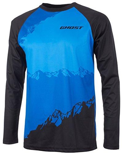 Ghost All Mountain Jersey Long Black/Blue MTB Langarmtrikot 2017 (L)