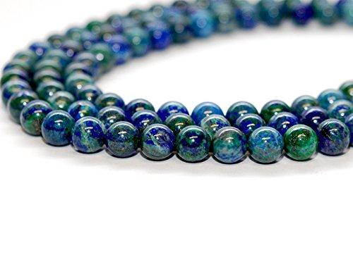3x Malachit Azurit Stränge - Kugeln 12 mm grün blau/2086g