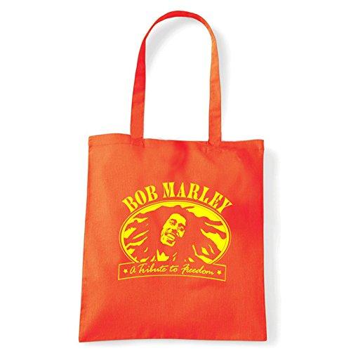Art T-shirt, Shoulder Bob Marley Freedom, Shopper, Mare