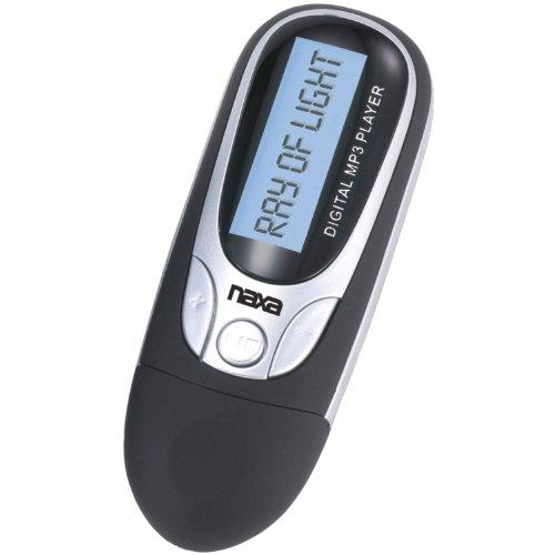 NAXA Electronics NM-105BK MP3/WMA/WAV Player with 4 GB Built-in Flash Memory, LCD Display, PLL Digital FM Radio and Built-in USB Plug Adaptor