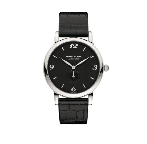 Mont Blanc Star Classique Collection Automatic - Uhr (Armbanduhr, Männlich, Edelstahl, Krokodilleder, Schwarz)
