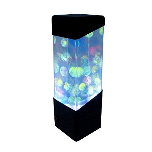 Quallen Lampe Innen, Desktop Dekoration Lampen LED Unterwasserlicht Aquarium Jellyfish Lampe Farbwechsel Stimmungslampe Nachtlicht Lavalampen - 4 Arten (Geleelampe)
