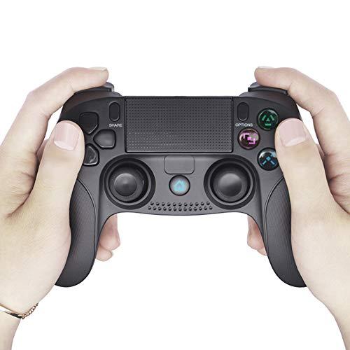 Bluetooth Draadloze Controller, Joystick Voor Pc-Game, Dubbele Vibratie, Voor PS4- En PS3 Host-Compatibele Pc-Systeemverbinding (Zwart)