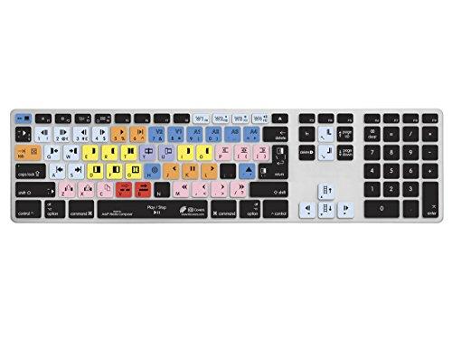 Avid Media QWERTY Abdeckung für Apple Ultra-Thin Keyboard Alu Tastatur mit Ziffernblock