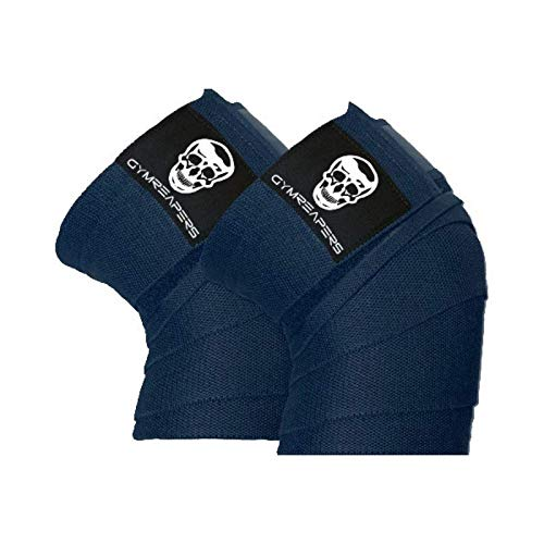 Knee Wraps (Pair) With Strap for Squats, Weightlifting, Powerlifting, Leg Press, and Cross Training - Flexible 72 inch Knee Wraps for Squatting - For Men  Mississippi