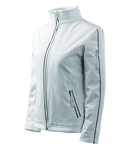 OwnDesigner by Adler Basic – Veste Softshell pour Femme Veste Multifonctions Coupe-Vent imperméable Respirant cintré M Weiß