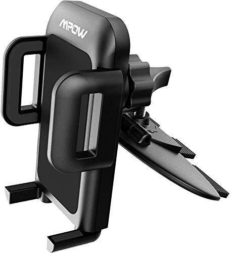 Mpow Grip Pro 2 - Soporte de Coche para teléfonos móviles, fijación a Ranura de CD por Empuje, Universal, rotación...