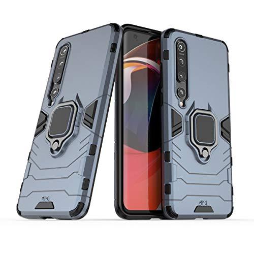 Max Power Digital Funda para móvil Xiaomi Mi 10 / Mi 10 Pro con Soporte Anillo Metálico Magnético Carcasa Híbrida Antigolpes Resistente Imán (Xiaomi Mi 10 / Mi 10 Pro, Azul Marino)