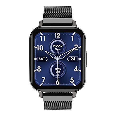 Smartwatch Geschäfts Sportuhr 1,78 Zoll großer Bildschirm Schalter Uhrgesicht Mehrere Sportarten Gesundheitsmanagement IP68 wasserdicht, Black Steel