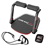 Core Max PRO Deluxe Pack with Resistance Bands and Fitness Monitor, Black