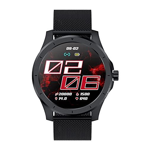 BATQER Smartwatch, Frecuencia Cardíaca, Presión Arterial, Detección De Sueño, Llamada Bluetooth, Almacenamiento De Música Local, Reloj De Marcación Personalizada,E
