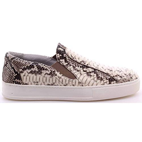 BOTTICELLI Damesschoenen Sneakers Roberto Limited Python Rock Beige Made Italië