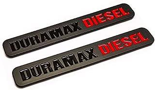 2pcs Duramax Diesel Allison Truck Emblem Replacement for SILVERADO 2500 3500 HD GMC SIERRA (Black)