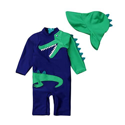 fgdahassa Peuter Baby Kids Dinosaur Zwemkleding Surfing Badpak Strandkleding Set Zwemmen Kostuum Trunks+Hoed Set