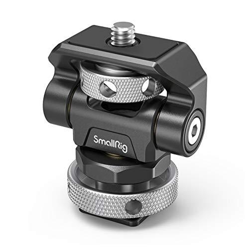 SmallRig モニターマウント(コールドシュー付き&1/4ネジ付き) 左右360度回転可能 前後170度調節可能-2905