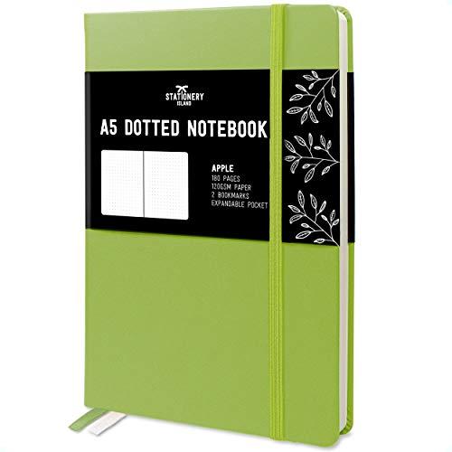 Tasca Interna Quaderno a Righe con 144 Pagine Copertina Rigida con Carta Color Crema 21,5x14,5 cm Rosa Taccuino A5