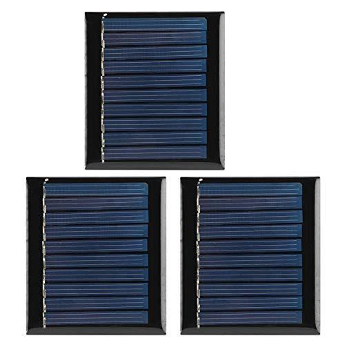 Rosvola 5V Mini 2.4x2.1in 0.3W Placa de Panel Solar, Panel Solar portátil, para iluminación de jardín Sistema de iluminación para el hogar pequeño