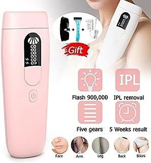 GGJIN 3Pin Singapore Plug Laser Hair Removal Epilator 900000 IPL Electric Hair Removing Machine (Color : Pink, Size : 3Pin...