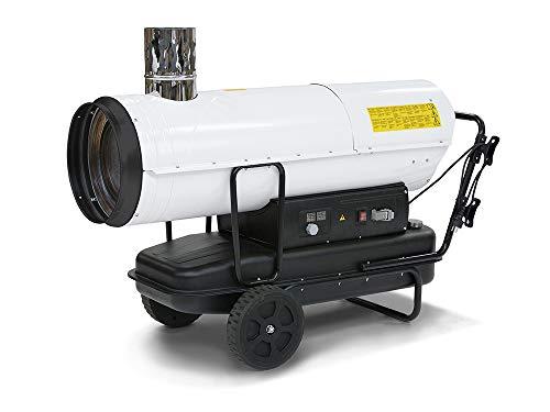 TROTEC Ölheizgebläse IDE 60 Heizkanone | Ölheizer | Ölbeheizung | Heizer (60 kW Heizleistung) inkl. externes Thermostat und Verlängerungskabel(20m)
