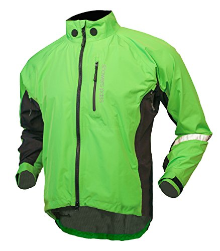 Showers Pass Men's Waterproof Double Century RTX Performance Cycling Jacket (Lime - Large)