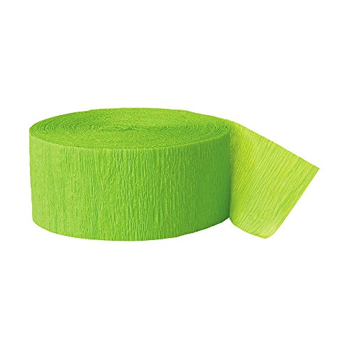 Crepe Paper Streamers, 81 Feet, Lime Green, 2 Rolls