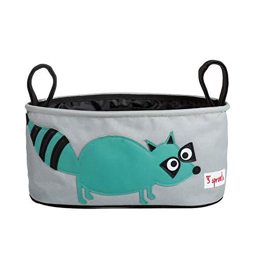 3 Sprouts Kinderwagentasche Waschbär, mehrfarbig