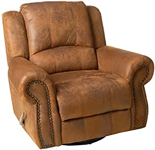 Coaster Home Furnishings Sir Rawlinson Swivel Rocker Recliner Buckskin Brown