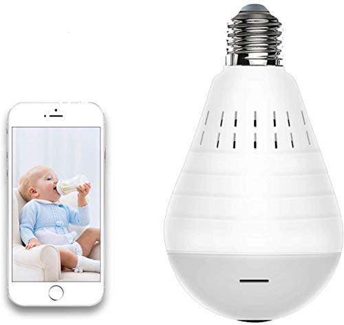 Light Bulb Camera, Include 32GB Card 960P WiFi Security Camera, HD Wireles IP LED Cam,Indoor/Outdoor Home Surveillance Cameras, Motion Detection, Night Vision (Light Bulb Camera Include 32GB Card)