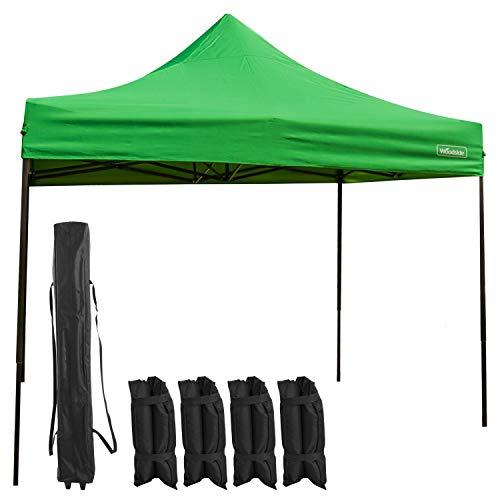 Woodside 3m x 3m Pop Up Garden Market Stall Gazebo Marquee Tent - GREEN