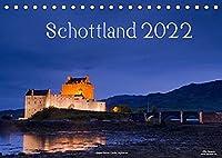 Schottland (Tischkalender 2022 DIN A5 quer): Natur, Architektur, Burgen und Orte aus Schottland im Norden des Vereinigten Koenigreiches (Monatskalender, 14 Seiten )