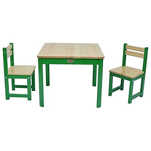 Liberty House Toys Boss Envy Tisch und Stuhl-Set, Holz, Grün