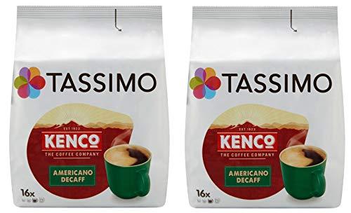 Tassimo T Discs Kenco Americano Decaf (2 Pack, 32 T Discs/pods), 32 Servings