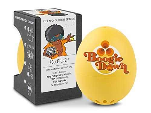 Brainstream A005389 BeepEgg Singing Floating Egg Timer, 70s Edition